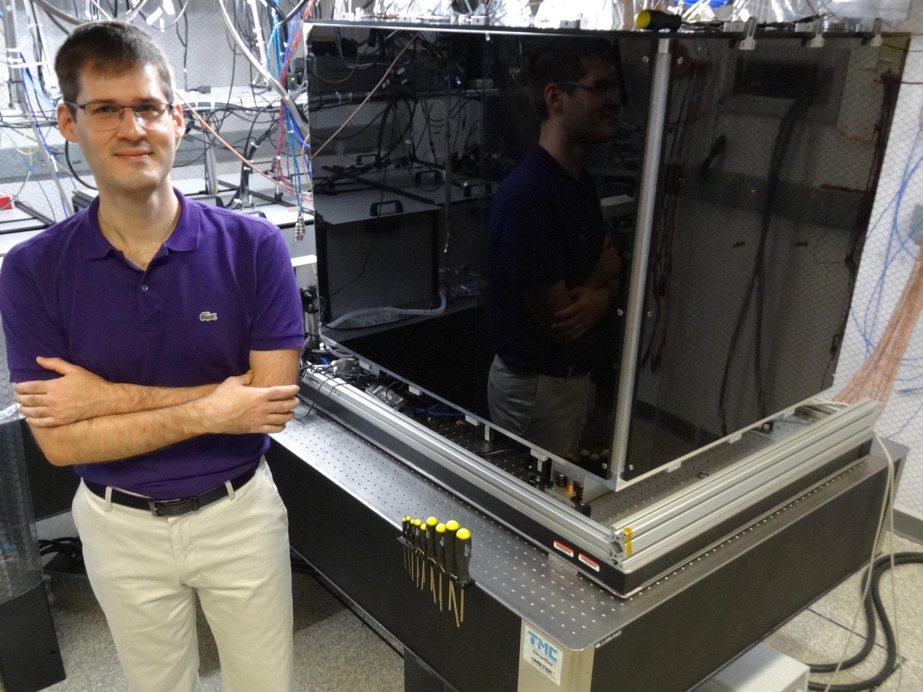 Marko Cetina posing in a lab