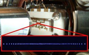 Close up of a quantum component