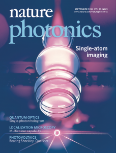 Nature Photonics cover